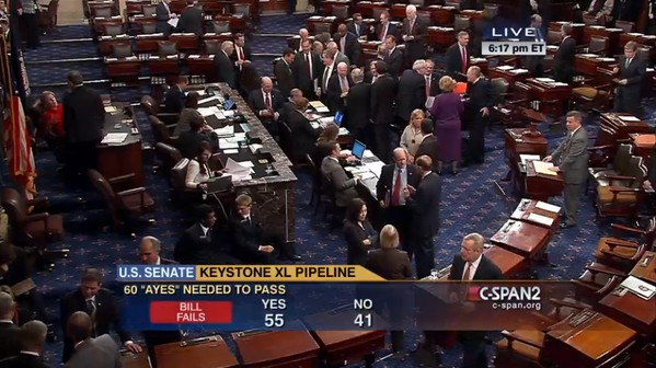 The Senate Votes to Halt the Keystone XL Pipeline