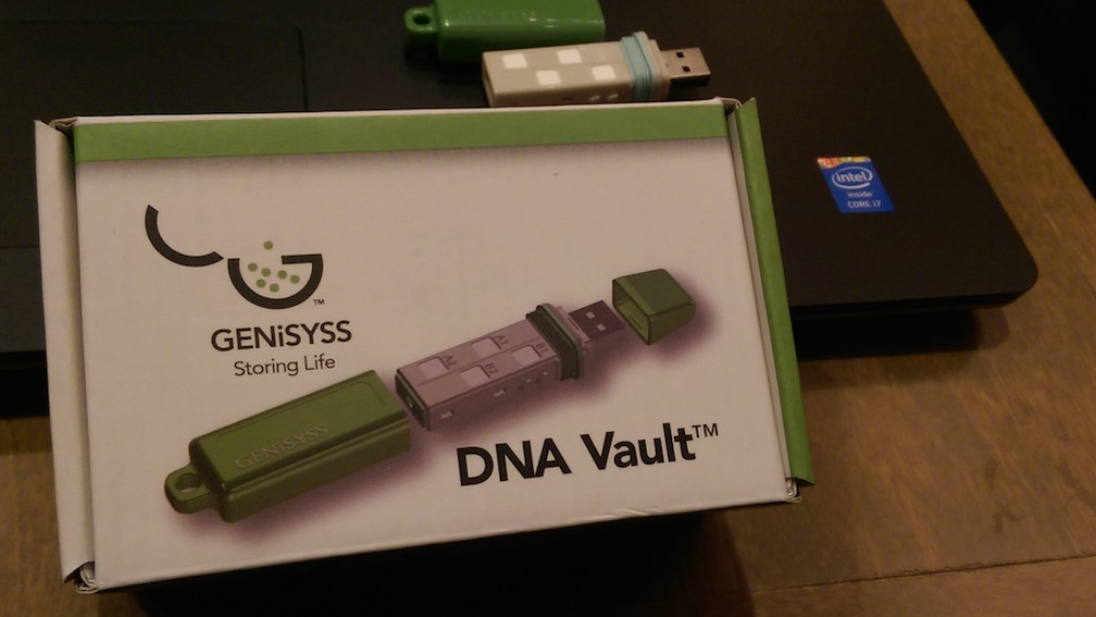 The Green USB Drive that Stores Blood So You Can Be Cloned One Day