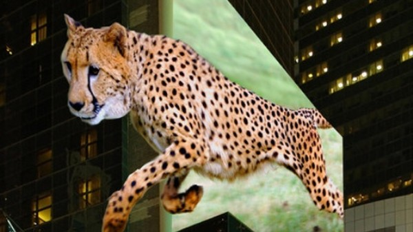 ​The Billboards of the Future Are 'Trixelated' 3D Holograms