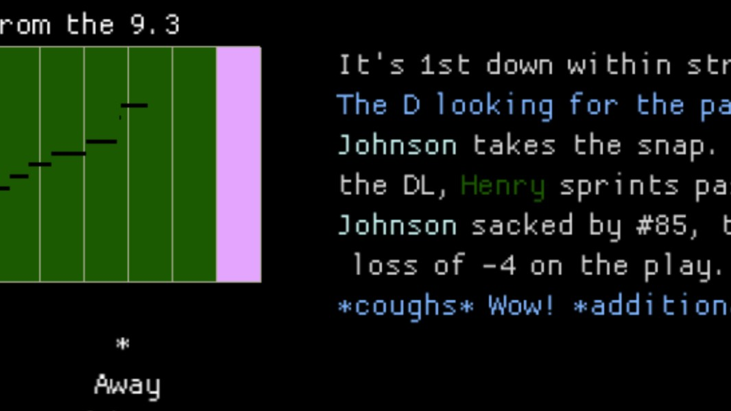 The Weird Text-Based Football Game For People Who Don't Like Football