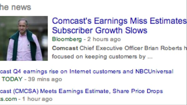 Comcast's Earnings Report May Be a Rorschach Test