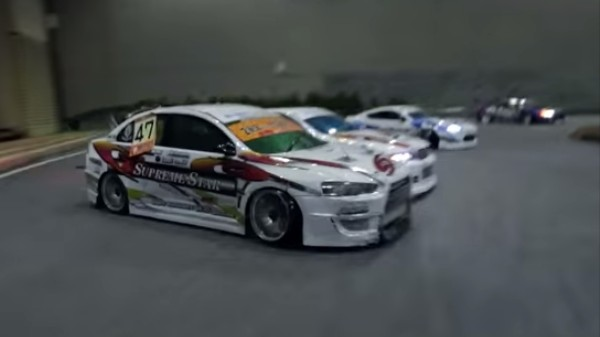 Watch These Adorable Remote Controlled Cars Drift on a Toy Track