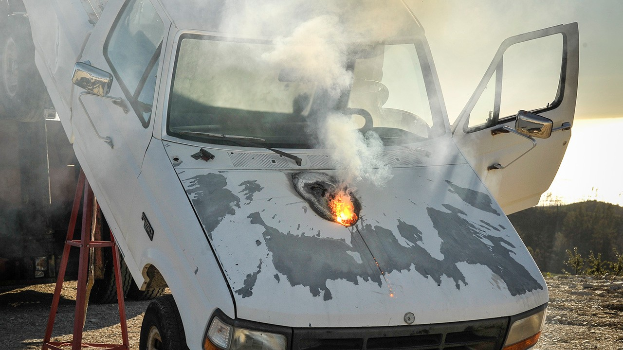 This Is What Lockheed Martin's Laser Weapon Can Do to a Truck From a Mile Away