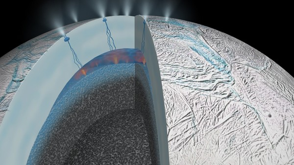 There's Warm Water on One of Saturn's Moons