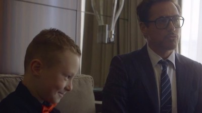 Robert Downey Jr. Gave a Cute 7-Year-Old Boy an Iron Man-Like Bionic Arm