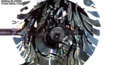 Watch a CD Spin So Fast It Warps and Shatters