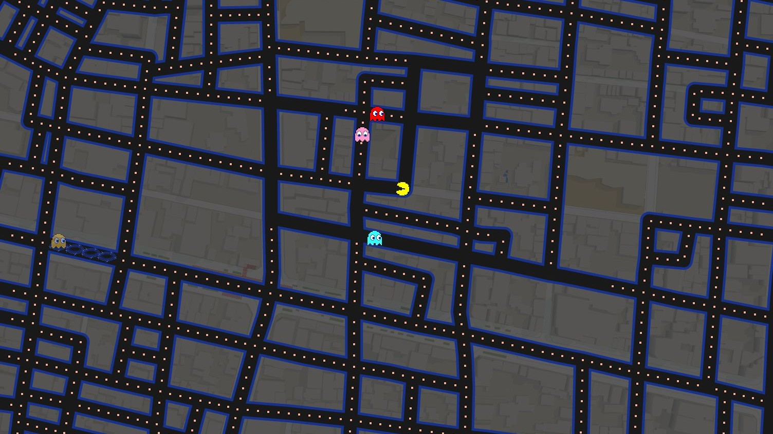 Play 'Pac-Man' on Google Maps for April Fools