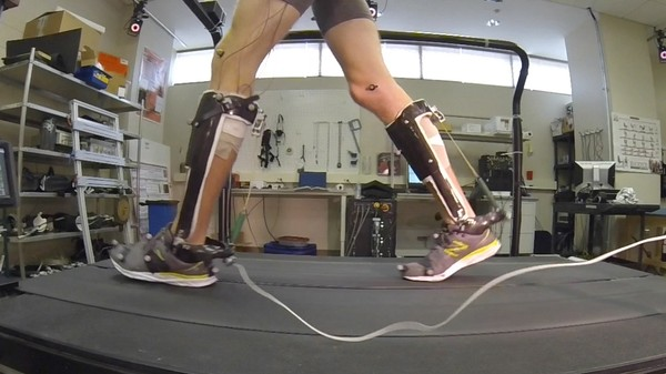 This Spring-Powered Exoskeleton Improves Inefficient Human Walking