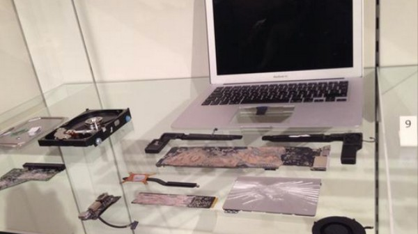 A British Museum Is Displaying the Guardian's Smashed Snowden Laptop