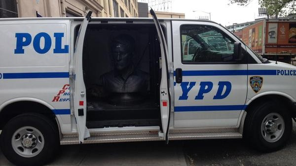 NYPD Releases Snowden Statue from Police Custody