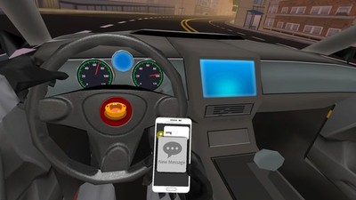 Attempt to Text and Drive in 'SMS Racing,' a VR Game and Public Safety Statement