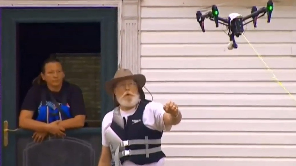 A Drone Helped Rescue Four People Stranded in a Flood