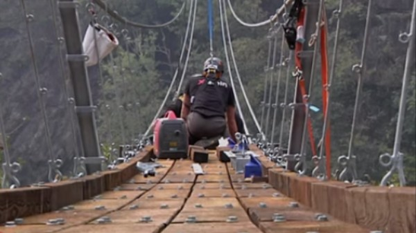 The Making of Switzerland's Longest Suspension Bridge