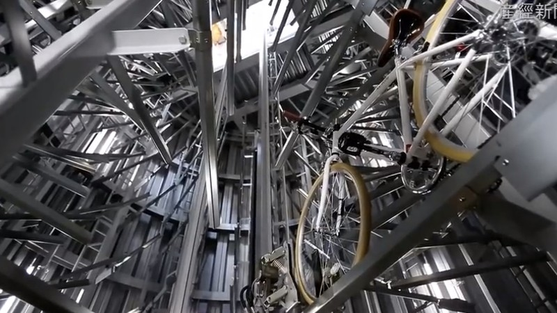 Japan's Incredibly Complex Underground Bicycle Storage System