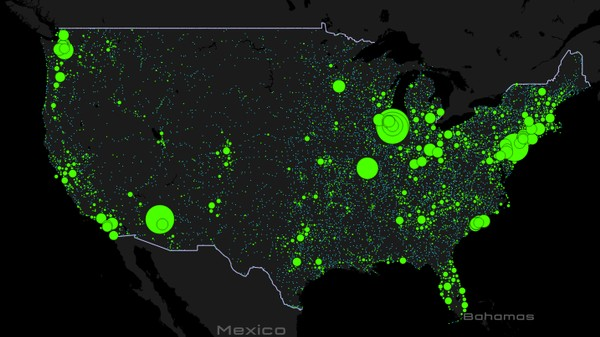 This Map Shows UFO Hot Spots Across the United States