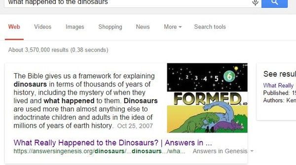 Go Ahead, Ask Google 'What Happened to the Dinosaurs'
