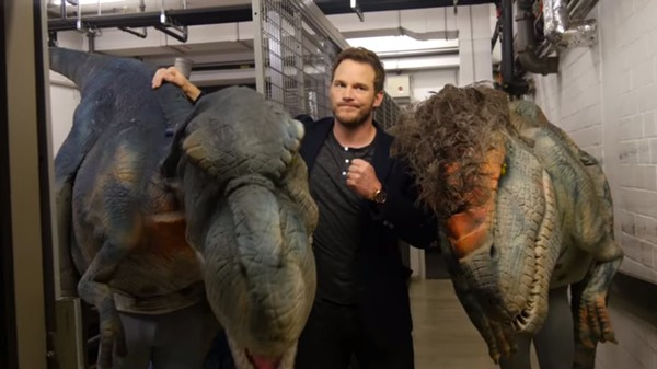 Real-Life Chris Pratt Attacked by (Prank) Dinosaurs