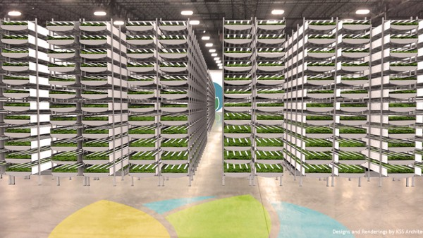 The World's Largest Vertical Farm Breaks Ground