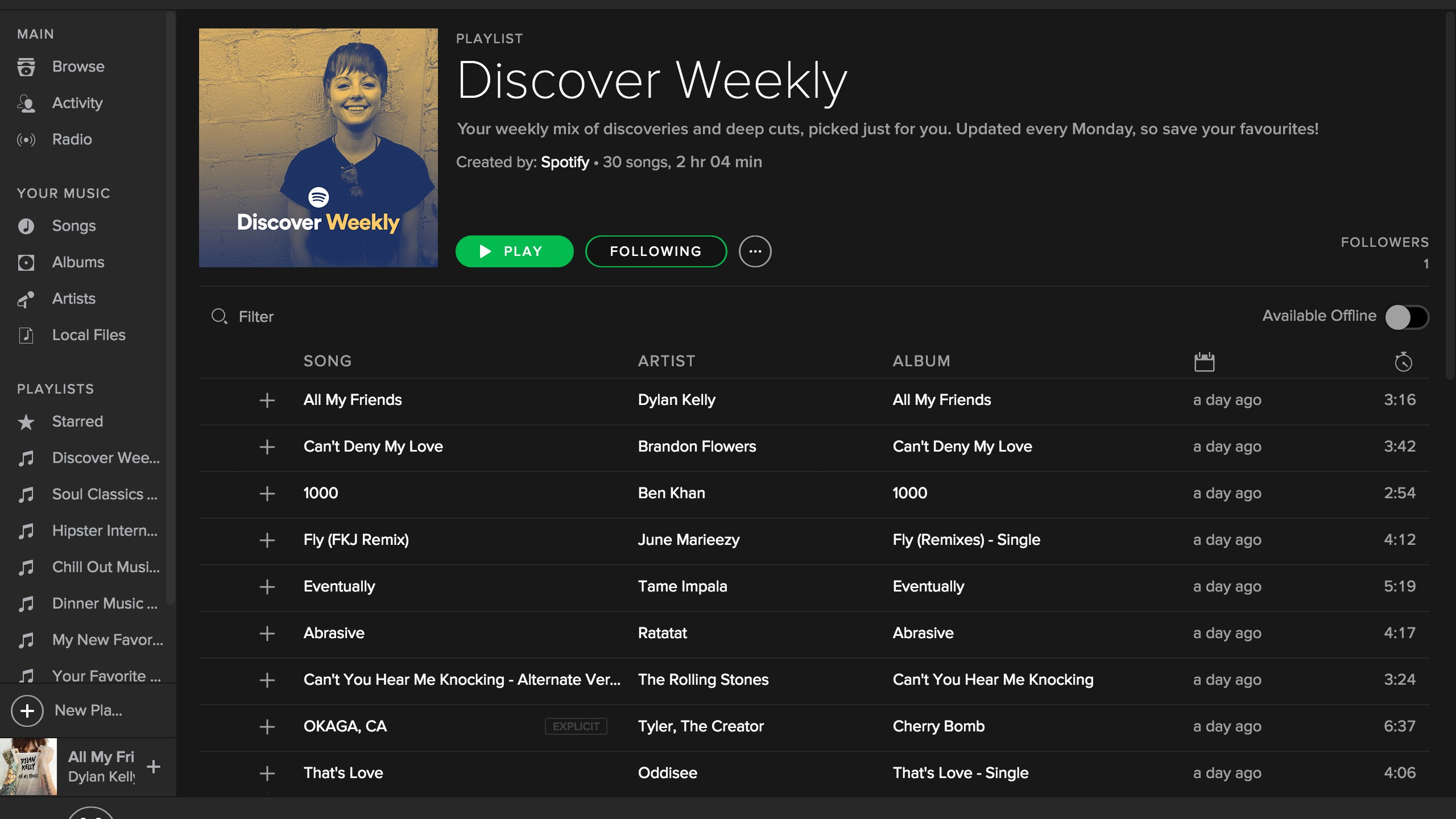 Spotify's Newest Feature Is a Weekly Playlist Just for You