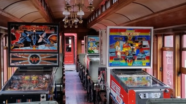Choo Choo, All Aboard the Tilting Pinball Train