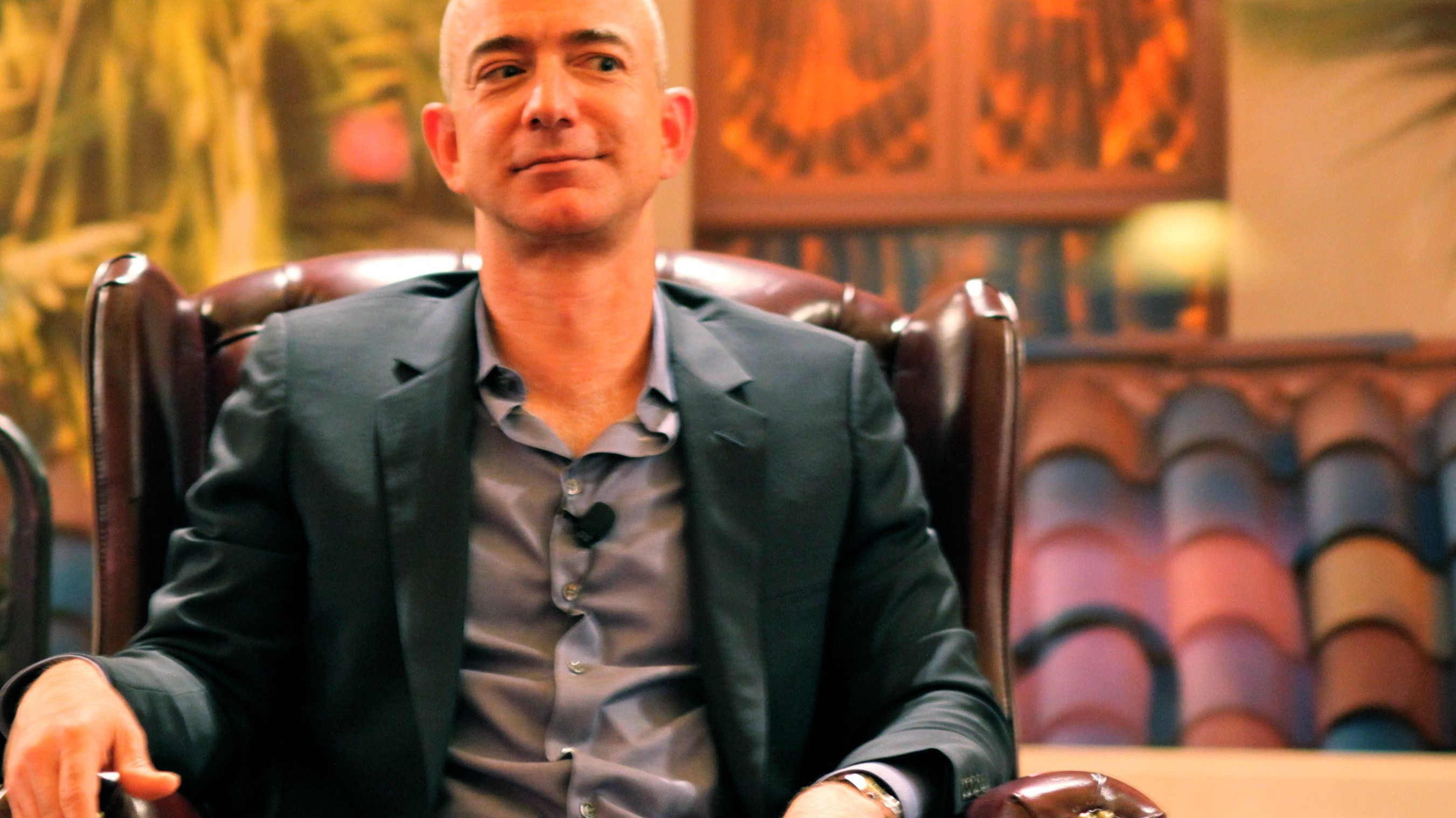Jeff Bezos Riding High As Amazon Posts a Profit (Which Is Rare!)