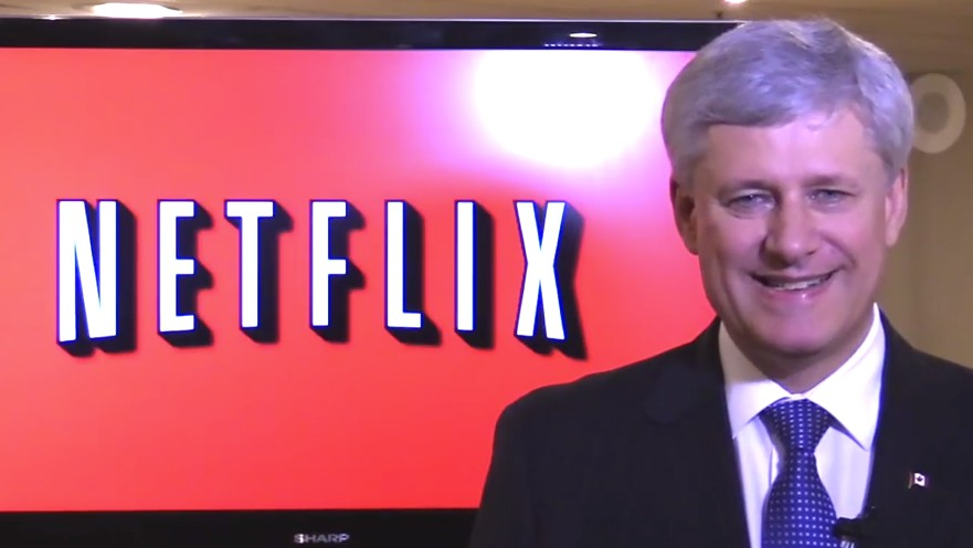 Watch Stephen Harper Convince Millennials He Is Not a Netflix-Hating Robot
