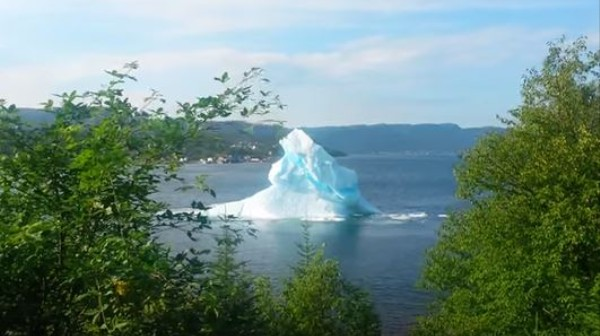 A Calving Iceberg Was Caught on Video From Someone's Backyard