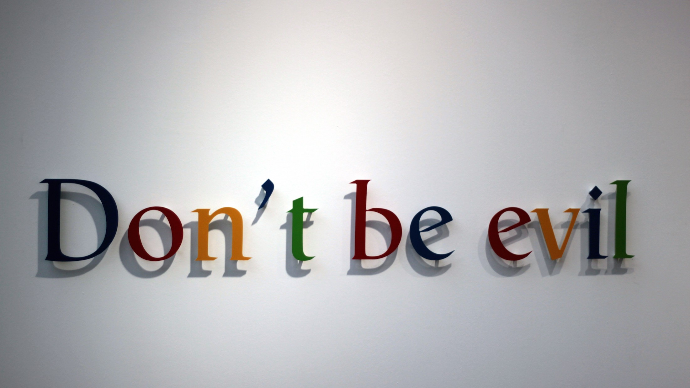 Google's New Alphabet Doesn't Include 'Don't Be Evil'