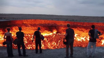 Turkmenistan's 'Gates of Hell' Now Attracting Tourists, Spiders