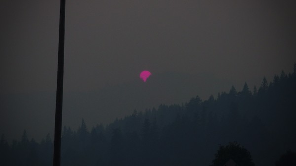 Wildfire Update: Here Is a Sunset That Occurred on Planet Earth