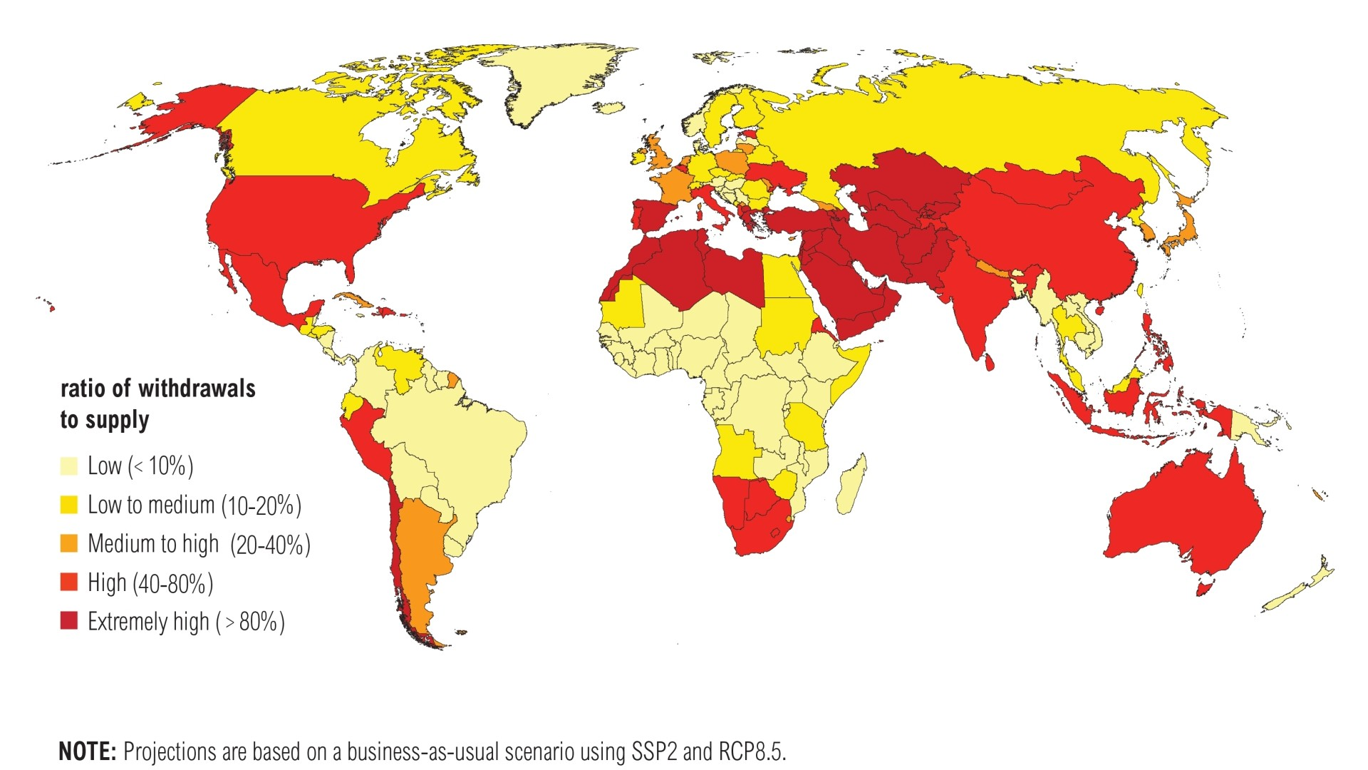 ​The Nations That Will Be Hardest Hit by Water Shortages by 2040