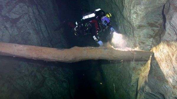 Watch a Diver Explore What Might Be the World's Deepest Underwater Cave