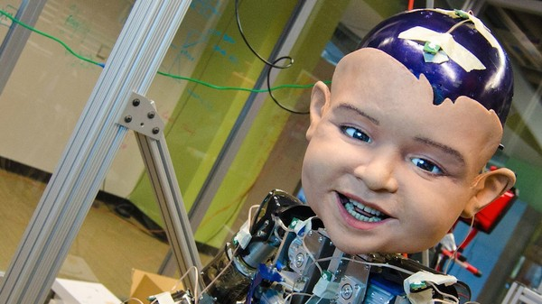 This Horrifying Robot Baby Was Built to Make You Smile