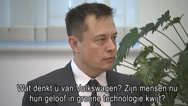 Elon Musk: VW Shows We've 'Reached the Limit of What's Possible With Gasoline'