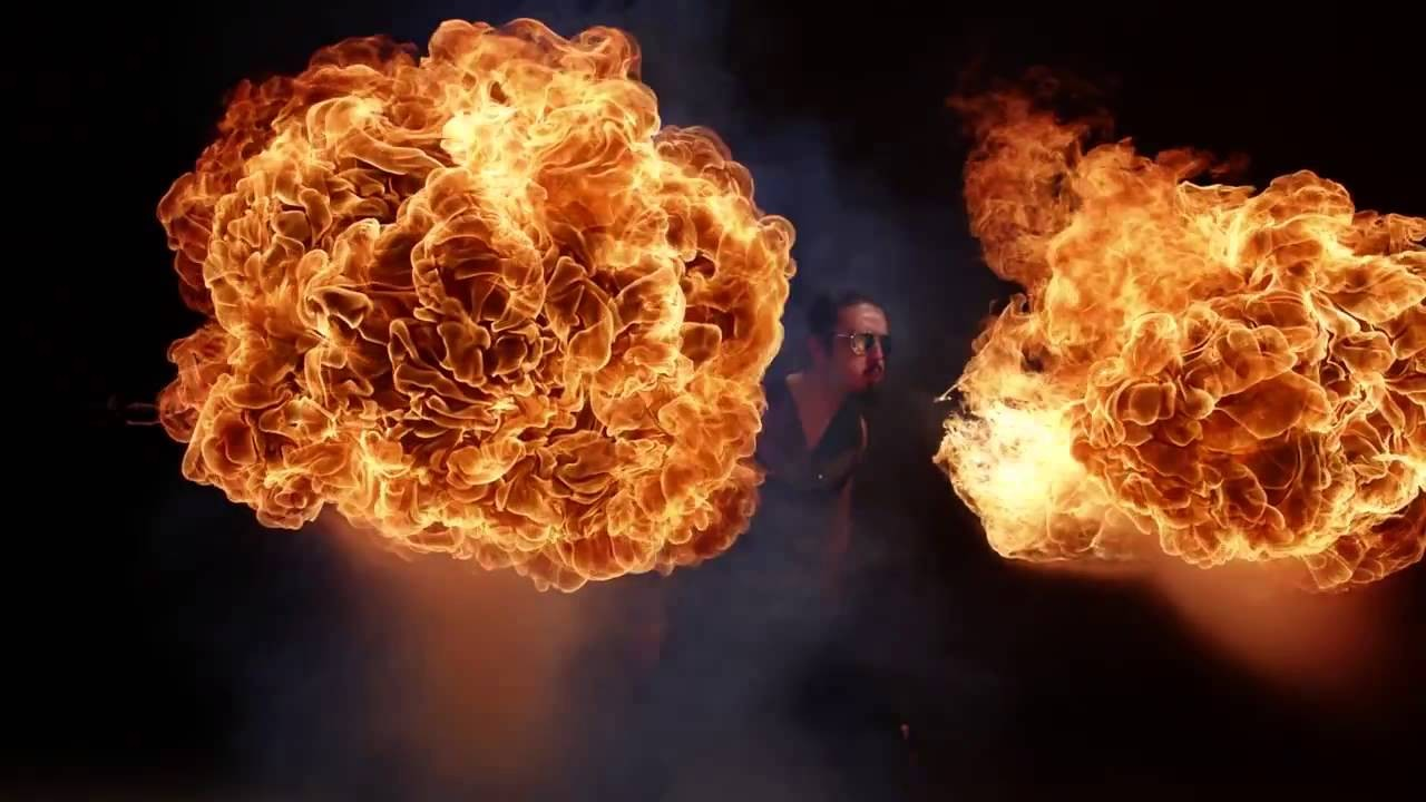 Watch These Awesome Goths Breathe Fire in Bullet Time