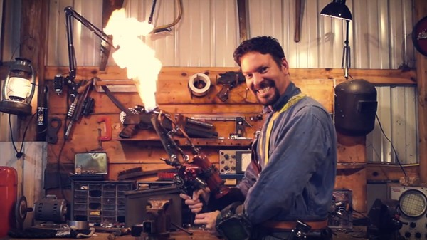 Someone Made that Flaming Sword from 'Fallout 4' Real