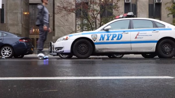 Watch This Madman Flout the NYPD Hoverboard Ban