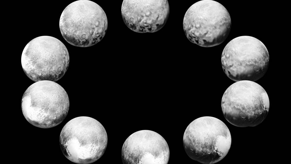 What Pluto Looks Like Over One Day, or 6.4 Earth Days