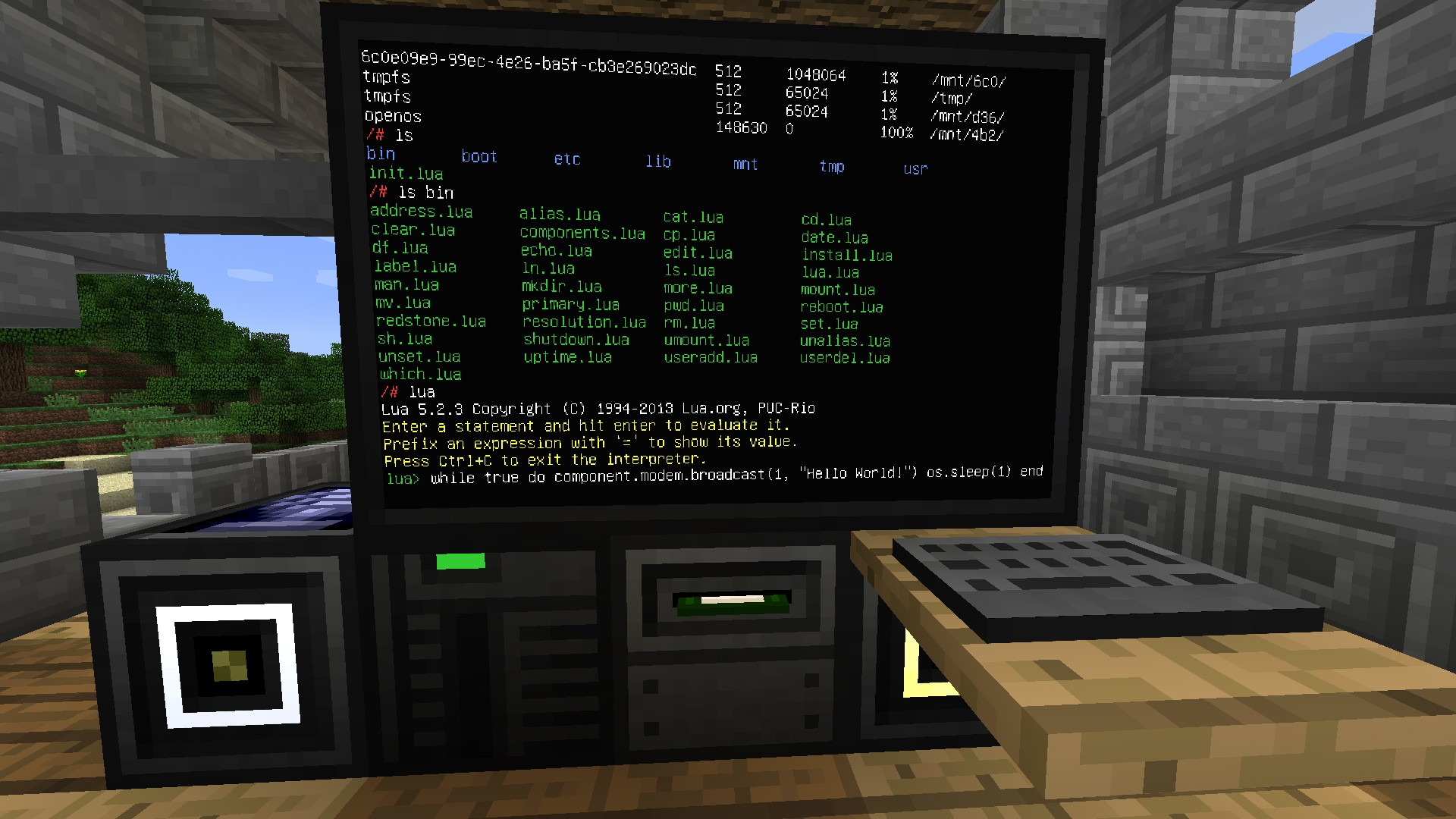 Program a Virtual Computer in Minecraft To Control Stuff in the Real-World