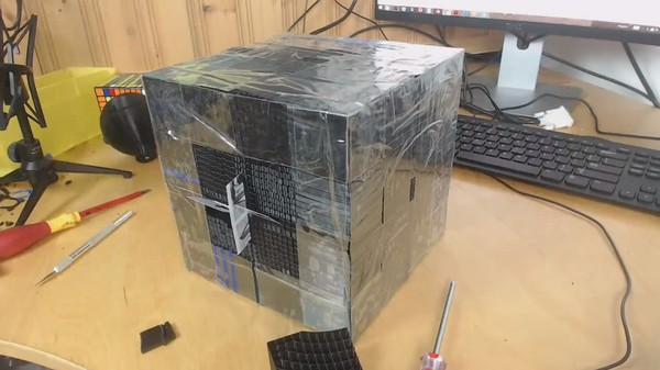 Giant Rubik's Cube Assembly Ends Tragically