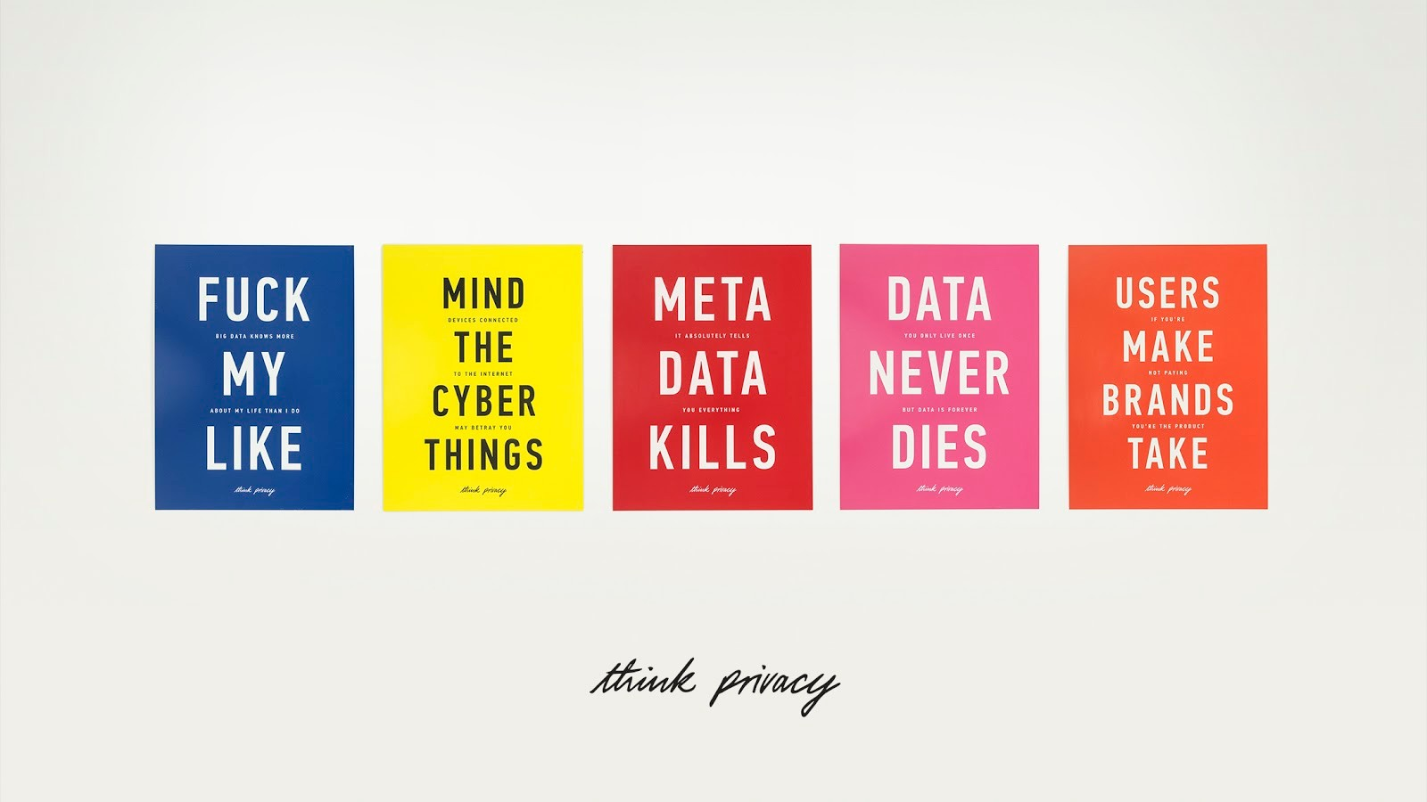 These 'Think Privacy' Posters Make Perfect Gifts for Cypherpunks and Paranoids
