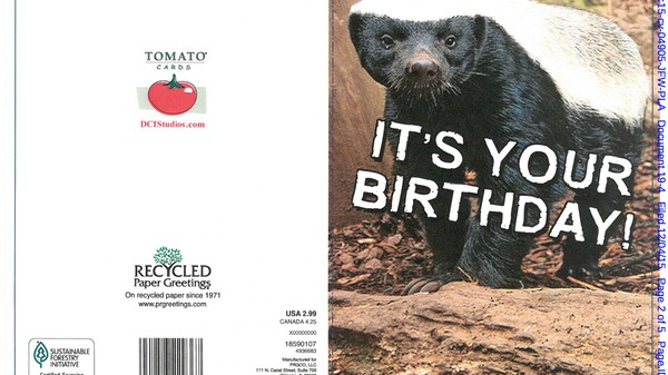 Viral Video Creator Sues Over 'Honey Badger Doesn't Give a Shit' Merchandise