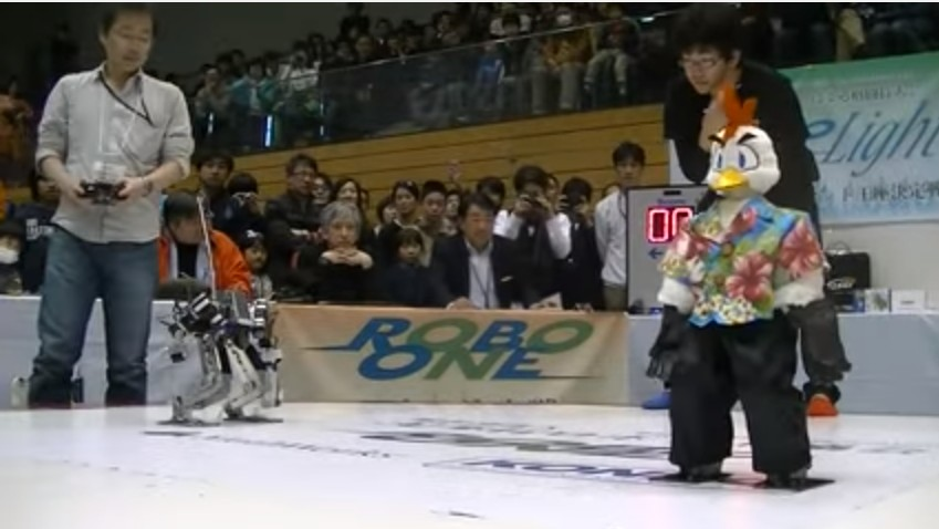 Watch the Championship Round of Japanese Hobby Robot Wrestling