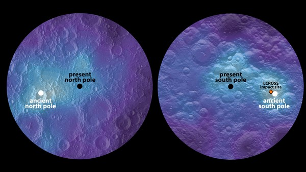 The Moon's Poles Haven't Always Been in the Same Place