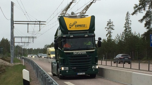 Sweden Is Testing an Electric Road for Trucks