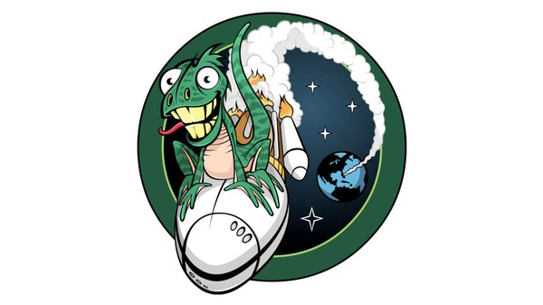 This Crazy Lizard Is the Mascot of the Latest US Spy Satellite Launch