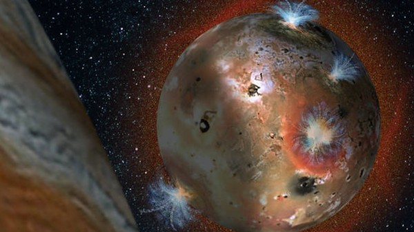 Jupiter's Shadow Freezes Io's Atmosphere Solid Every Day