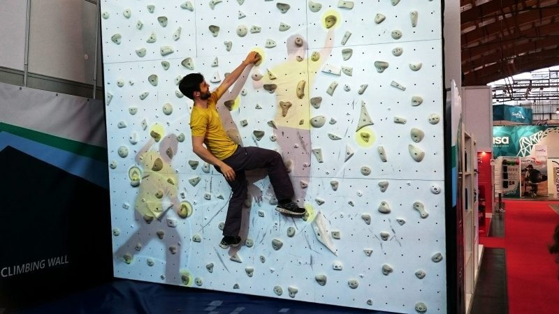 Watch People Play 'Pong' on a Rock Wall With Augmented Climbing  Preview Image
