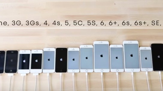 Watch a Speed Test Comparing All the iPhones Ever Made