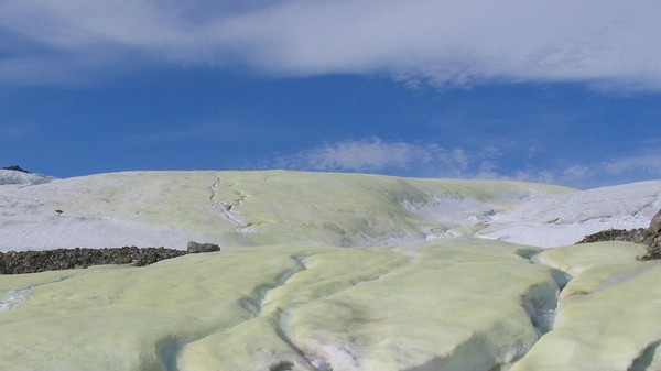 Why Is This Weird Glacier Yellow? The Answer Could Help Find Alien Life